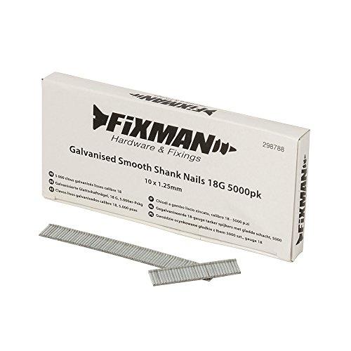 Fixman 298788 - Clavos galvanizados (18 g, 1,25 x 10 mm, 5000 unidades)