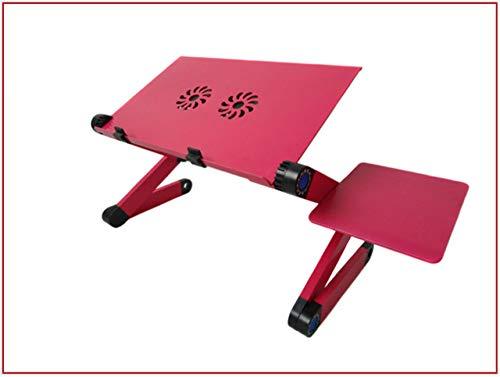 Nachtkastje LKU Verstelbare notebook computer tafel dubbele ventilator ergonomisch draagbaar bed, Rose