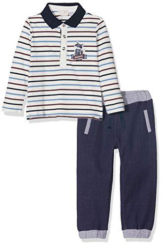 Chicco Completo Polo con Pantaloni Lunghi Conjunto de Ropa, Gris (Grigio 090), 68 (Talla del Fabricante: 068) para Bebés