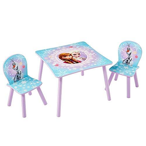 TW24 Disney Kindersitzgruppe - Kindertisch - Kinderstuhl - Sitzgruppe Kinder mit Motivauswahl (Frozen)