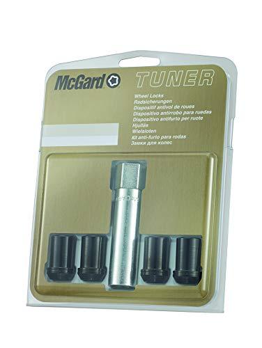McGard 25354SU Hex/Tuner Set de écrous Anti-vol M12x1.25 Noir-Conique-Longueur 21mm