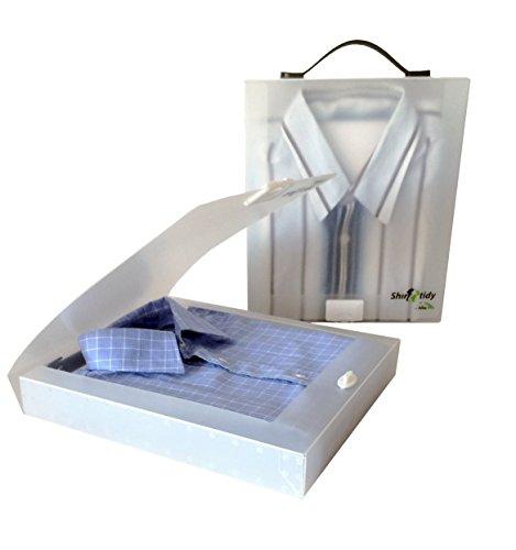 Shirt Tidy Cabin Max – confezione da 2 – Soluzione facile per mettere le tue camicie in valigia (White)