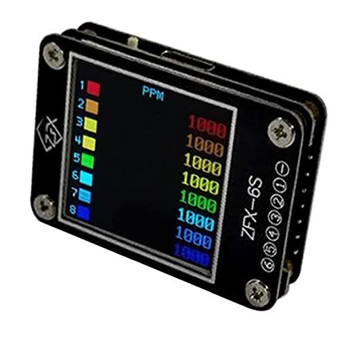 Prueba Tester Comprobador de tensión de señal del receptor de la batería del color de la pantalla de visualización de TV PPM PWM DSM Receptores Negro, voltaje y corriente calibrador