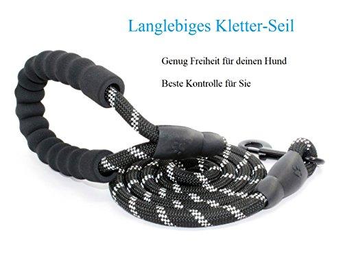 Anicoll 5 FT Starke Hundeleine mit Bequemen Gepolsterten Griff, Starke Reflexnähte der Trainingsleine für SicherheitNachts, eignet für Alle Größe Hunde - 6