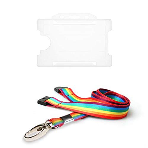 NHS Rainbow 15mm Lanyard with 3 Point Break System * New