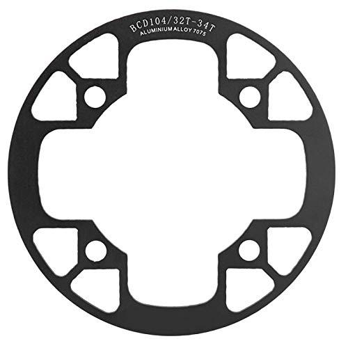Shipenophy Cubierta de protección de Juego de bielas de Rueda de Cadena de Bicicleta de fácil instalación Fácil de Usar - Cubierta de protección de Cadena de Bicicleta Negra para Bicicleta de montaña