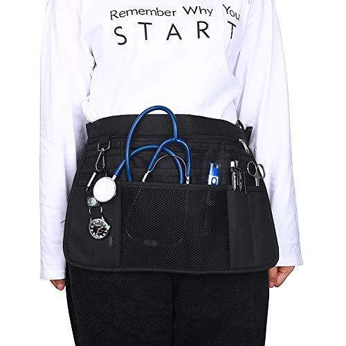 Bolsa de cadera, enfermeras, riñonera, bolsa de veterinaria de enfermera, bolsa de cintura, organizador de bolsillo con cinturón ajustable, organizador de bolsillo clínico
