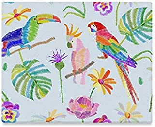 JTMOVING Wall Art Painting Tropical Birds Nd Plants On White Prints On Canvas The Picture Landscape Pictures Oil for Home Modern Decoration Print Decor for Living Room