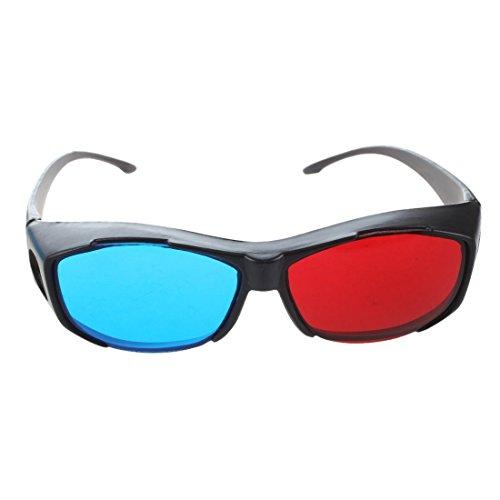 Huante 2X 3D Gafas de Estilo Anaglifo Rojo-Azul/Cian de Anaglyph Estilo Simple...