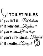 Kurphy Brief Patroon Toilet Regels Citaat Muurstickers Badkamer Wasruimte PVC Verwijderbare Muur Art Decals Home Decor -