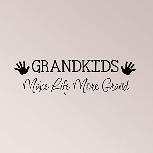 Kleinkinderen maken leven meer grote muur sticker Thuis Dcor kleinkinderen grootouders kind kind handafdruk