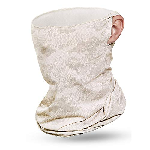 VOCALOL Summer UV Protection Face Cover,Anti Air Pollution Smoke Face Scarf Dust Cover Reusable Headwear Sports-Headbands Neck Gaiter for Sport,Outdoor,Fishing,Cycling (Light Camouflage)