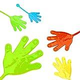 L+H 24x Klatschhand Glibber in Premium Qualität   Bunte Klatschhände   Klebehand Sticky Klatsch Hand Mitgebsel Mitbringsel Give aways Scherzartikel Spielspaß für Geburtstag Kindergeburtstag Kinder