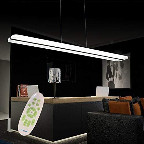 DE-BDBD LED kantoor kroonluchter hanglampen Lightshade woonkamer restaurant vergaderruimte hanglamp acryl lampshade metaal draad hangen plafondlampen zwart dimbaar met afstandsbediening