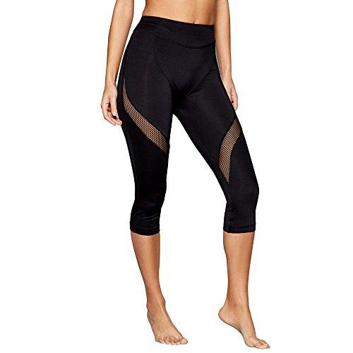 Shock Absorber Damen Sport Leggings Active Capri, Schwarz (Noir), W38 (Herstellergröße: Taille fabricant M)