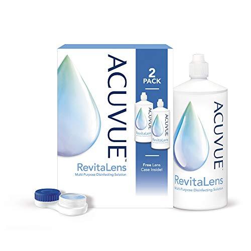 ACUVUE RevitaLens MPDS – Pflegemittel & Reiniger für weiche Kontaktlinsen mit antimikrobieller Wirkung – Wirkt mehr als 16 Stunden – 2 x 300 ml Kombilösung