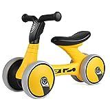 Bamny Bicicleta sin Pedales, Quadriciclo sin Pedales para Niños entre 1 y 2 Años (Amarillo-Negro)