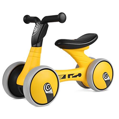 Bamny Kinder Laufrad superleichtes Lauflernrad für Baby und Kinder 1-2 Jahre Alt (Gelb-Schwarz)
