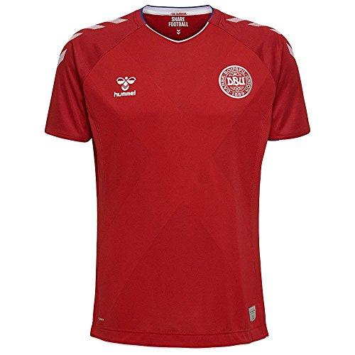 Hummel Sport Hummel Danish National Soccer Team Short Sleeve Home Jersey, Red, Youth Medium
