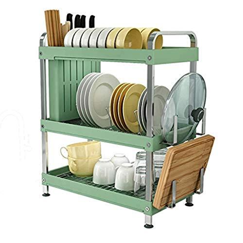 JIAJBG Estante para Platos de Acero Inoxidable de Drenaje Estante para Platos Rack Secado de la Vajilla Platos de Cocina Bastidores Hogar Vajilla Caja de Alenamiento hermosa cocina