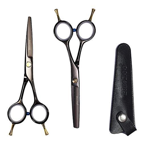 ZHCOM - Juego de tijeras profesionales para peluquería, tijeras de peluquería, tijeras de peluquería, corte de acero inoxidable, tijeras de peluquería, con peine/piel para mujer, hombre, niños, c