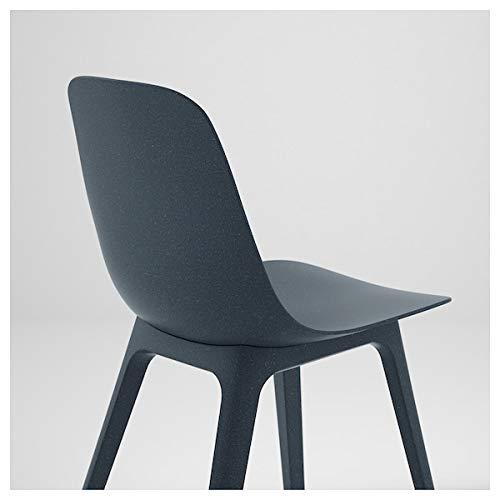 BestOnlineDeals01 ODGER Silla, azul, 45 x 51 x 81 cm, duradera y fácil de cuidar. Sillas de comedor. Sillas. Muebles. Respetuoso con el medio ambiente.