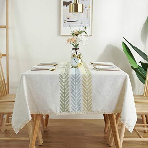 YOUYUANF manteles mesamantel Antimanchas Mantel salón Comedor Mesa Impermeable Moderno Mantel rectangular45x45cm