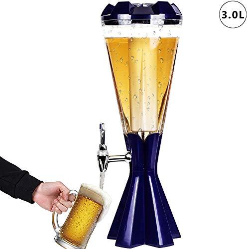 3L Bier Turm Spender Getränkespender mit EIS-Schlauch und LED-Leuchten Keg Tag for Kitchen Party iji