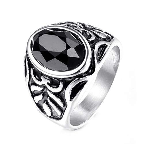 Ring mannen vrouwen Eenvoudige Titanium Steel Men's Creative Punk Ring Gothic Ring Punk Finger Jewelry Gift Punk Biker voor heren (Color : Silver, Size : 11)