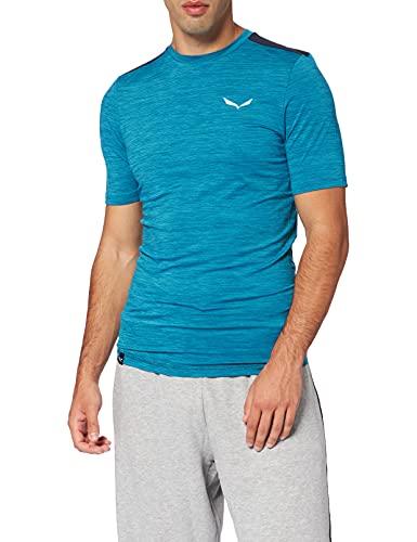 Salewa T-Shirt Pedroc Hybrid 2 Dry M S/S pour Homme S Mélange d'océan.