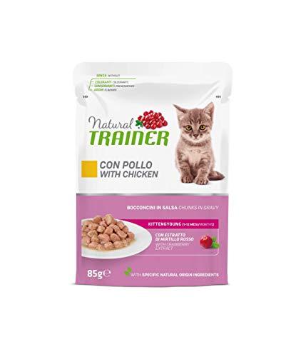 Trainer Natural Kitten & Young Cibo Umido per Gatti con Pollo 12 buste x 85g - 1020 gr