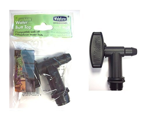 Whitefurze Plastic Water Butt Tap Compatible With All Whitefurze Water Butts