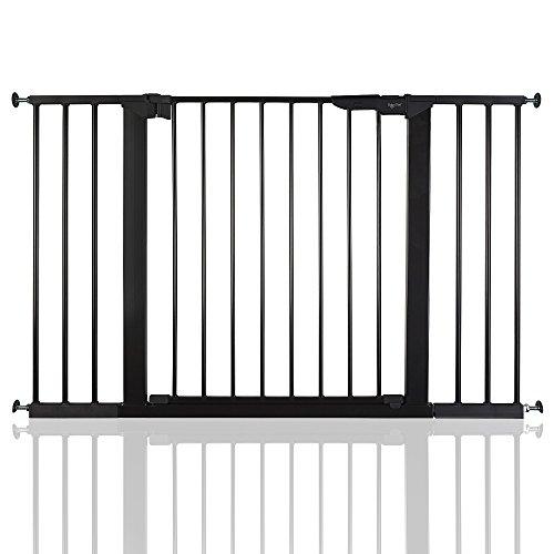 BabyDan Premier Bébé Barrière de Sécurité en pour Escalier Noir 112-119,3cm