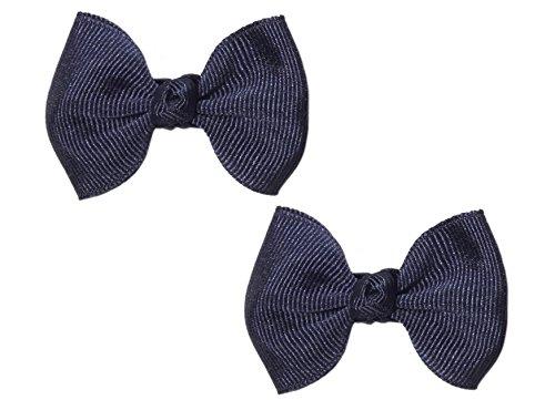 """Anna Belen Girls""""Serena"""" Small Grosgrain Bow O/S Navy (2 Pieces)"""