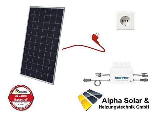 275W Balkonkraftwerk JA Solar - PV-Anlage - (1xJA Solar, 1xEVT300) inkl. Anschlusskabel und Schukostecker