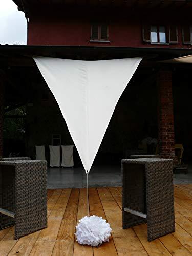 PEGANE Voile d'ombrage Triangulaire en Polyester Coloris Blanc - Dim : 400 x 400 x 400 cm