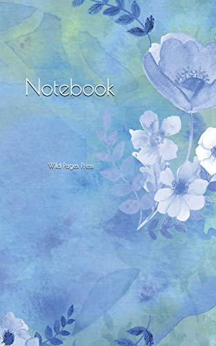 Notebook: Background heart floral lilac blue flower