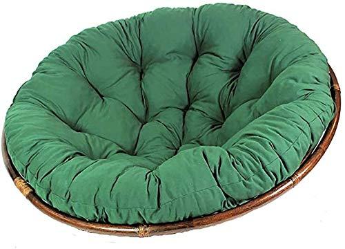 ZSEFV Wicker Chair Cushions Rattan Papasan Chair Cushion, Soft Round Hanging Egg Chair Pad Cushion for Garden Patio Orange 110cm(43inch) Patio Seat Cushions (Color : Blue)