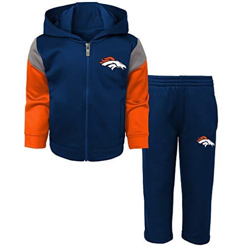 Outerstuff NFL Infants Toddler Blocker Performance Full Zip Hoodie & Pants Set (4T, Denver Broncos)