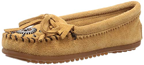 Minnetonka Women's Taupe Suede Me to We Maasai Moc 6 B(M) US