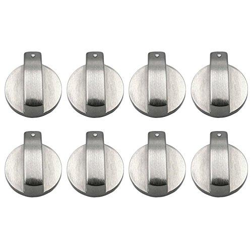 8 manopole di controllo rotanti universali in metallo, accessori di ricambio per cucine, fornelli a gas, fornelli, fornelli da 8 mm