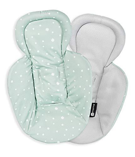 4moms Accesorio para recién Nacidos con Malla para mamaRoo 4, Reversible Gris/Verde