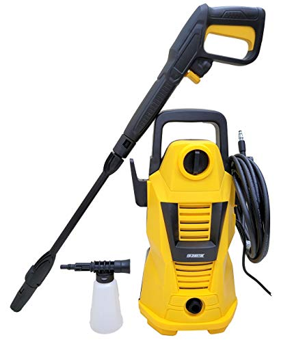 Cheston Portable High Pressure Washer 1600W 105 Bar for Car, Household, Fences, Patios, Garden Cleaning, Electric Power Water Pump 220V with Hose Pipe, Multi Purpose Cleaner (Yellow)