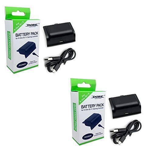Kit 2 Baterias Com Cabo Carregador Controle Xbox One Charge Play