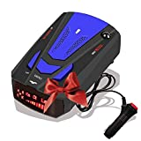 Radar-Detector-for-Cars,Laser Radar Detector Voice Prompt Speed,Vehicle Speed Alarm System,LED Display,City/Highway Mode,Auto 360 Degree Detection for Cars(New FCC)(Blue)