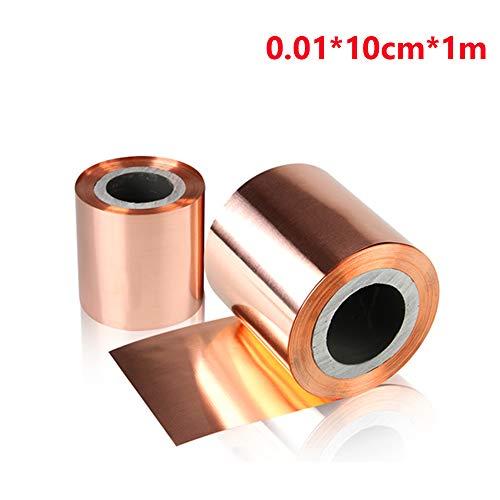2 placas de metal de cobre, cinta de lámina de cobre, lá