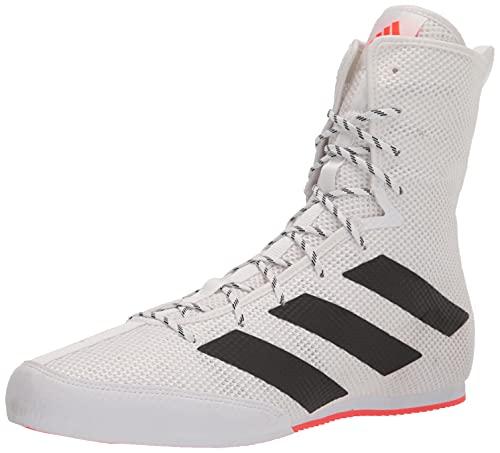 adidas Unisex Hog 3 Boxing Shoe, White/Black/Solar Red, 7.5 US Men