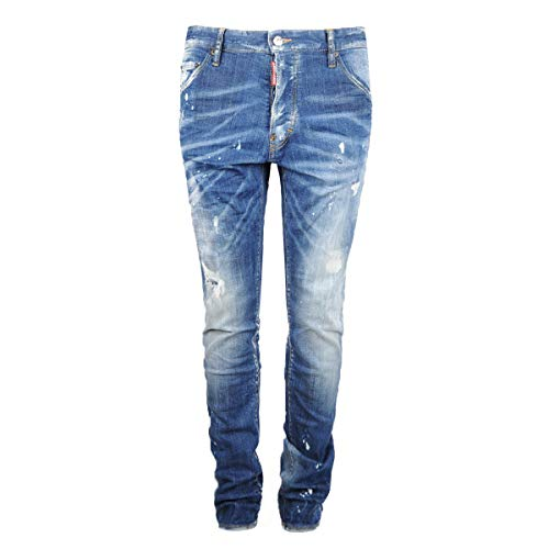 DSQUARED2 Herren Jeans Cool Guy Jean Navy Blue Distressed Dsquared 2
