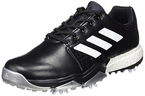 adidas Adipower Boost 56Scarpe da Golf per Uomo, Nero/Bianco/Argento, 42.6
