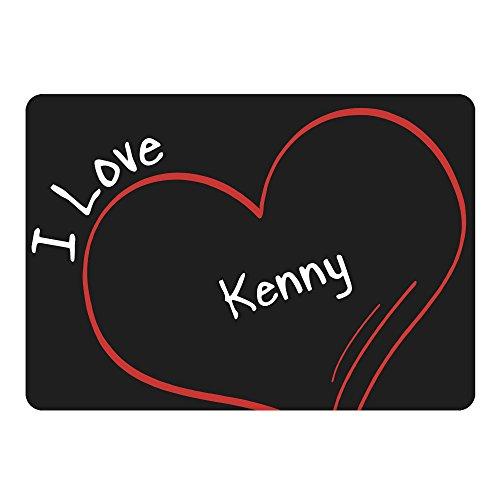 Multifanshop Mousepad Modern I Love Kenny schwarz